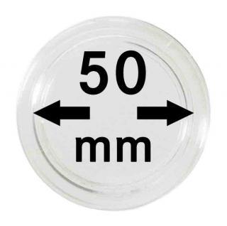 5 LINDNER Münzkapseln / Münzenkapseln Capsules Caps 50 mm 2250050P
