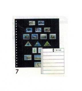 10 x LINDNER 06P Omnia Einsteckblätter schwarz 6 Streifen x 43 mm Streifenhöhe