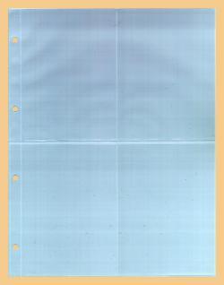 100 x KOBRA G54E Ergänzungsblätter DIN A4 4 Taschen 110x150mm Für A6 gr. Bierdeckel Einsteckkarten Briefe Banknoten Postkarten Ansichtskarten