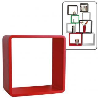 """SAFE 5321 Deko Präsentationsrahmen Würfel Cube """" Quadro Rot """" XL - ExtraLarge L 41 x H 41 x T 19, 5 cm Für alle Schätze von A - Z"""