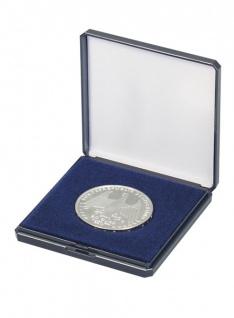 LINDNER 2027 Blaues Münzetui Münzen Etui mit Patenteinlage für Münzen bis 50 mm