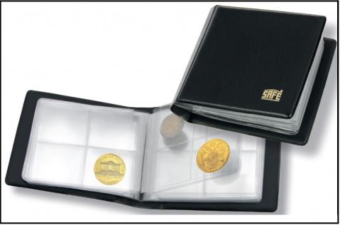 """SAFE 227 Taschenmünzalbum Taschen Münzalbum """" Mini """" mit 10 Seiten für 40 Münzen bis 40 mm"""