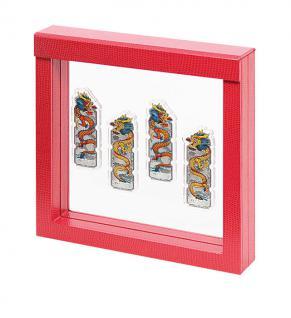 LINDNER 4868 NIMBUS 150 Sammelrahmen Rot Krokodesign Schweberahmen 3D 150x150x25 mm Für Glas Miniaturen Figuren Malerei