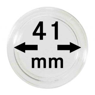 5 LINDNER Münzkapseln / Münzenkapseln Capsules Caps 41 mm 2250041P