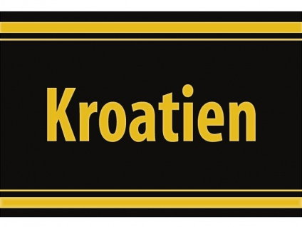 "1 x SAFE 1130 SIGNETTE Aufkleber selbstklebend "" Kroatien """