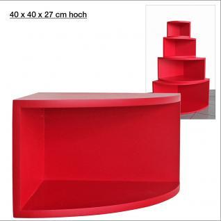 """SAFE 5352 Deko Präsentations Eck-Boards """" Syno Rot """" L - Large L 40 x H 40 x T 27 cm - Für alle Ihre Schätze von A - Z"""