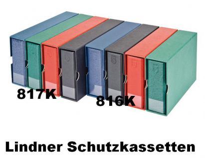 LINDNER 817K-R Weinrot Rot Kassetten - Schutzkassetten Für das Album 817 im Langformat