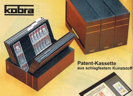 KOBRA KS Patent - Kassette aus schwarzem Kunststoff leer Für Einsteckkarten Steckkarten DIN A6 C6 A5 - Vorschau 1