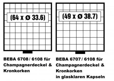 SAFE 6165 BEBA Champagner Sammelkasten + 10 Schuber 6108 Platz für 640 Champagnerdeckel & Kronkorken - Vorschau 4