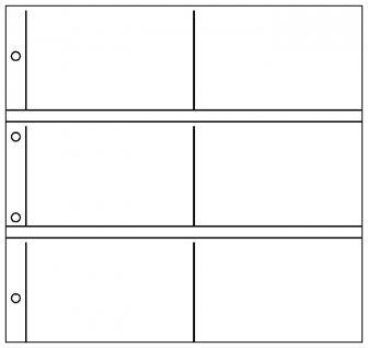 1 x LINDNER 3060 Postkartenblatt Ergänzungsblätter XL glasklar 6 Taschen waagrecht 165 x 105 mm Für 12 Ansichtskarten Postkarten Banknoten Briefe Fotos Bilder