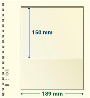 10 x LINDNER 802101P T-Blanko-Blätter Blankoblatt 18-Ring Lochung - 1 Tasche 150 x 189 mm