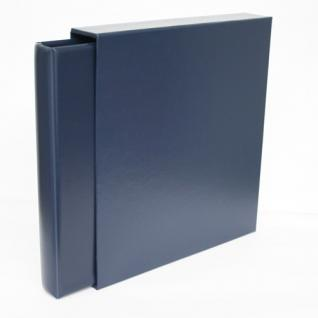 """SAFE Set 702 705 Ringbinder Album Favorit """" Morocco """" Blau unwattiert + Schutzkassette - Für Postkarten Banknoten Briefe Briefmarken"""
