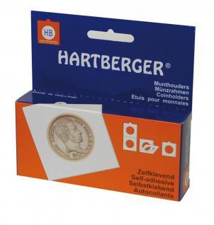 25 SAFE 7840 Münzrähmchen Standard 50x50 mm Selbstklebend Weiß 39, 5 mm