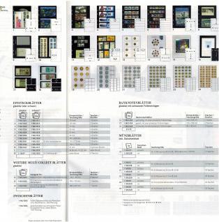 LINDNER S3540BN - 5 - Nautic Blau MULTI COLLECT Banknotenalbum PUBLICA M COLOR + 10 Blätter Mixed 2er & 3er Teilung - Vorschau 2