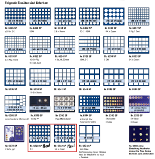 SAFE 5794 Premium WURZELHOLZ Münzkassetten mit 3 Tableaus 6326 - 105 Fächer Für 2 Euro Münzen Gedenkmünzen - Vorschau 4