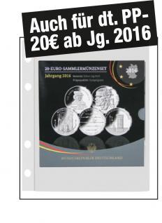 5 x SAFE 879 Coin Compact Ergänzungsblätter 1 Fach 180 x 180 mm Für 1 x SET 20 Euro PP ab 2016