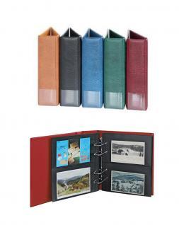 LINDNER 1300PK-S Postkartenalbum MULTI COLLECT Ringbinder Regular Album SCHWARZ mit 30 Hüllen MU1312 Für 120 Postkarten Anischtskarten