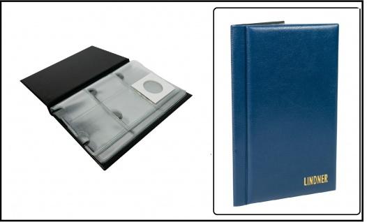 Lindner S816 Blau Münzen - Taschenalbum Für 60 Münzrähmchen 50x50 mm