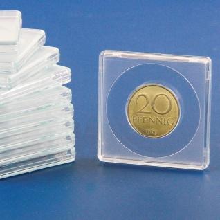 10 x SAFE 3123 Quadratische Münzkapseln Münzdosen Square 50x50 mm glasklar für Münzen bis 23 mm - Ideal für 20 Cent - 20 Mark Kaiserreich Gold - 10 Rubel Nicholas II Gold