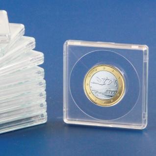 10 x SAFE 3124 Quadratische Münzkapseln Münzdosen Square 50x50 mm glasklar für Münzen bis 24 mm - Ideal für 1 Euro - 1 DM - 1 Schweizer Franken CHF - 5 ÖS - 1/4 Libertad Gold