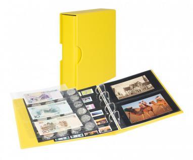 LINDNER S3542PK-9 Solino - Gelb Postkartenalbum Album PUBLICA M COLOR + Kassette & 10 Hüllen Für Postkarten - Fotos - Bilder - Ansichtskarten