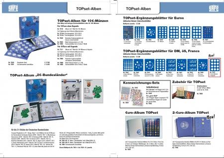1 x SAFE 7822-22 TOPset Münzblätter Ergänzungsblätter Münzhüllen Münzblatt mit farbigem Vordruckblatt für 2 Euromünzen Gedenkmünzen - 2018 - Vorschau 3