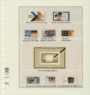 1 x LINDNER 802415 T-Blanko-Blätter Blankoblatt 18-Ring Lochung 4 Taschen 44 / 43 / 92 / 41 x 189 mm - Vorschau 2