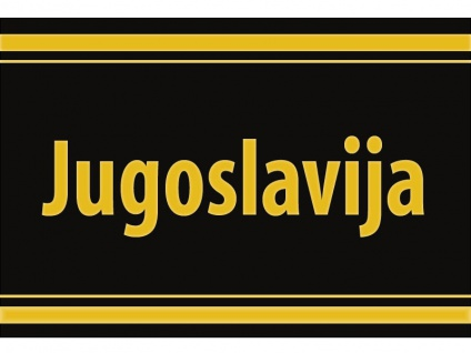 "1 x SAFE 1130 SIGNETTE Aufkleber selbstklebend Kanalinseln Jugoslaiwien "" Jugoslavija """