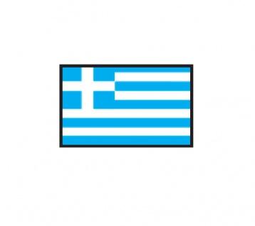 1 x SAFE 1175 SIGNETTE Flagge Griechenland - Hellas - Greece Aufkleber Kennzeichnungshilfe - selbstklebend