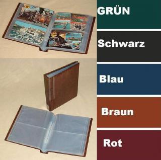 KOBRA G30 Hellbraun - Braun Postkartenalbum Sammelalbum + 40 glasklaren Blättern G32E für 160 Banknoten - Ansichtskarten - Postkarten - Vorschau 1