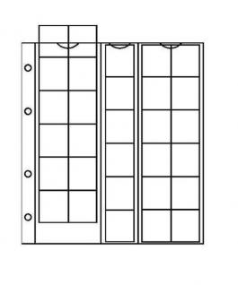 10 x KOBRA F30 Münzblätter Münzhüllen + weiße Zwischenblätter mit 30 Fächern für Münzen bis 25 mm