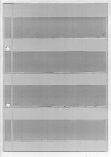 10 x KOBRA A5 Einsteckblätter Ergänzungsblätter glasklar transparent 5 Streifen 125 x 23 mm für Briefmarken bis 33 mm