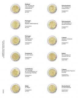 1 x LINDNER MU2E23 Multi Collect Münzhüllen Vordruckblatt 2 Euro Gedenkmünzen Estland 2019 - Deutschland 2019