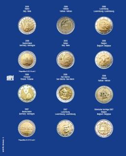 1 x SAFE 7302-2 TOPset Münzblätter Ergänzungsblätter Münzhüllen mit farbigem Vordruckblatt für 2 Euromünzen Gedenkmünzen in Münzkapseln 26 - 2005 - 2006 - 2007