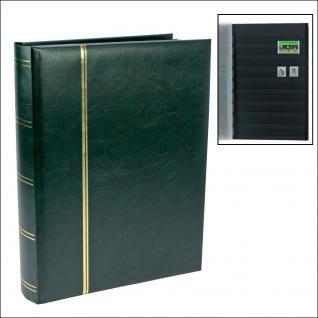 SAFE 155-3 Briefmarken Einsteckbücher Einsteckbuch Einsteckalbum Einsteckalben Album Grün wattiert 64 schwarze Seiten