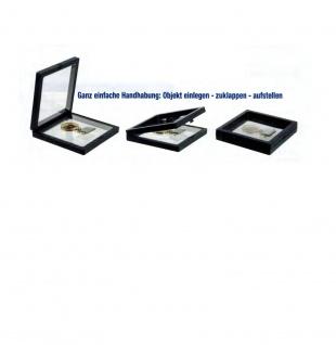 Safe 4528 Schweberahmen Neo Rahmen Frame Presenter 3d Schwarz 110 X 110 Mm / 92 X 92 Mm Für Geocoins - Münzen - Travel Bugs - Geocaching - Vorschau 2