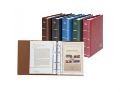 LINDNER 5600-W ETB Album LOTOS Ringbinder Weinrot Rot mit 50 Klarsichthüllen 5601 für Ersttagsblätter und DIN A5 Format