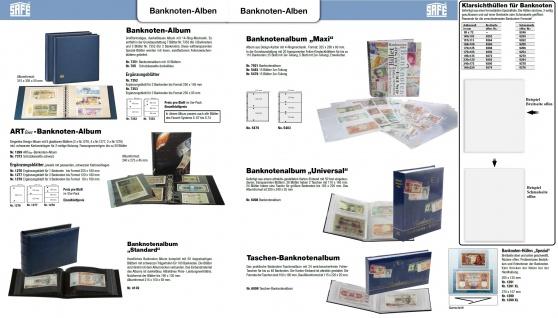 10 x SAFE 1277 ARTline Ergänzungsblätter Banknotenhüllen Hüllen 2er Teilung 180 x 120 mm - Vorschau 3