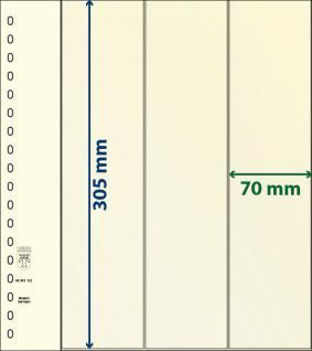 1 x LINDNER 802122 T-Blanko-Blätter Blankoblatt 18-Ring Lochung 3 Taschen 305 x 70 mm senkrecht - Ideal für Rollenmarken - Rollenstreifen