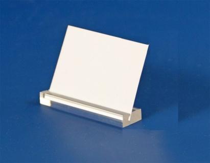 3 x SAFE 5162 Acryl Schilderhalter 70 mm Oberseite geschlitzt - Für Schaufenster & Vitrinen & Aufsteller & Schilder & Preisetiketten & Etiketten & Preisschilder