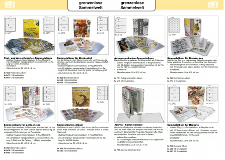 5 x SAFE 5480 Standard A4 Ergänzungsblätter Hüllen 2er A5 Teilung 215 x 145 mm Kochrezepte - Vorschau 5