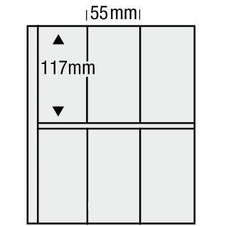 1 x SAFE 7876 Compact Ergänzungsblätter Hüllen 6 Taschen 55 x 117 mm glasklar Für Markenheftchen