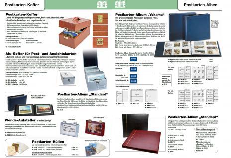 SAFE 6005 Postkartenalbum Album Ringbinder Yokama Blau leer erweiterbar bis 500 Ansichtskarten Postkarten Fotos Banknoten - Vorschau 2