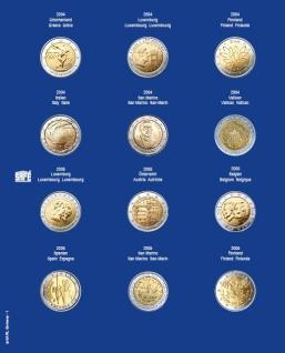 1 x SAFE 7302-1 TOPset Münzblätter Ergänzungsblätter Münzhüllen mit farbigem Vordruckblatt für 2 Euromünzen Gedenkmünzen in Münzkapseln 26 - 2004 - 2005