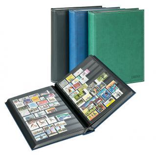 Lindner 1195-S Briefmarkenalbum Einsteckbücher Einsteckbuch Diamant Schwarz 60 schwarze Seiten klare Streifen + klare Folien ZWL - Vorschau 2