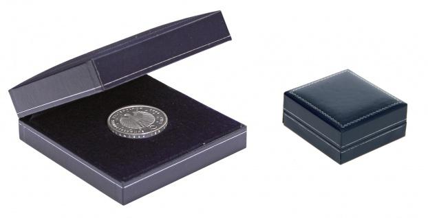 SAFE 7916 Blaues Münzetui Münzen Etui für große Münzen & Medaillen bis 80 mm