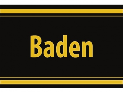 """1 x SAFE 1130 SIGNETTE Aufkleber selbstklebend """" Baden """""""