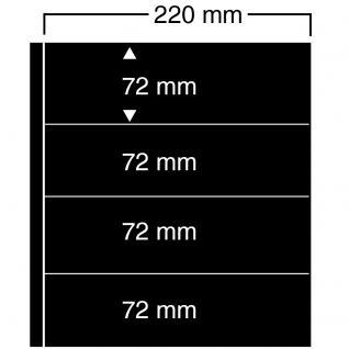 10 SAFE 454 Einsteckblätter Compact A4 - 4 schwarze Taschen 220 x 72 mm Für Banknoten Briefmarken