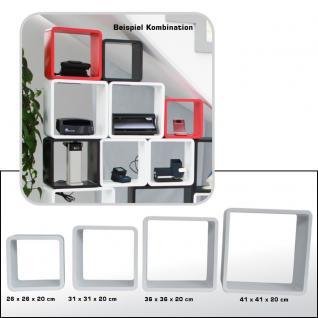 """SAFE 5326 Set Design Deko Präsentationsrahmen Würfel Cube Vintage Regal """" Quadro Weiss """" S M L XL - L 26 - 31 - 36 - 41 cm x B 26 - 31 - 36 - 41 cm x T 19, 5 cm"""