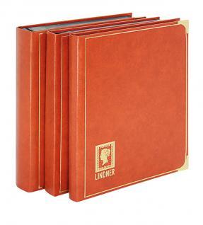 Lindner 1150 - H Briefmarkenalbum Einsteckbücher Einsteckbuch Royal Hell Braun 24 schwarze Seiten - Vorschau 2